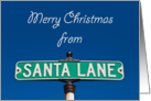 Christmas - Sign for Santa Lane card