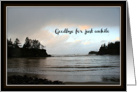 Sympathy Card, Goodbye for Just Awhile, Evening Beach Landscape card