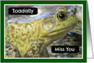 Toadally Miss You, Frog Photograph, Blank Inside card