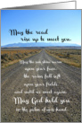 Gaelic Blessing, Prayer, Montana Open Road Photograph, Blank Inside card