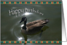 Canadian Goose Happy Birthday Card