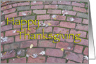 Happy Thanksgiving Brick Path card