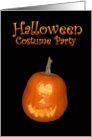 Happy Halloween Jack-o-lantern Costume Party Card