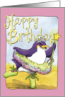 Birthday, Penguin Ballerina card