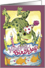 Happy Birthday Frog card