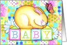 Sleeping Bunny, Baby Shower card