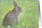 Frohe Ostern, German Easter Bunny card