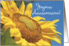 Sunflower Happy Birthday, French card