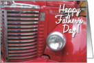 Happy Father's Day! Red Truck card