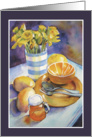 Yellow Still Life with Daffodils card