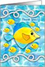 Nautical Rope, Ocean Fish Thank You card