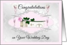 Wedding Day Lesbian Couple- Congratulations - Bible with Pink Rose card