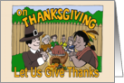 Thanksgiving-Let Us Give Thanks card