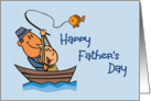 Happy Father's Day (general) (Man & boy in Fishing Boat) card