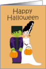 Happy Halloween (Frankenstein & Bride) card