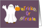 Trick or Treat (Ghost) card