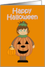 Happy Halloween (Pumpkin Girl) card