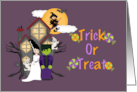 Trick or Treat (Frankenstein and Bride) card