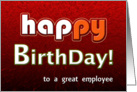 Happy Birthday Business Employee Relations! card