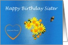 Happy Birthday Sister Unconditional Love card