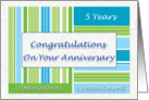 Employee Anniversary Congratulations On Your 5th Anniversary card