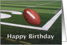 Happy Birthday Football Fanatic card