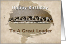 Birthday Card for Boss Great Leader card