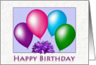 Happy Birthday Bright Balloons card