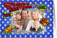 Season's Greetings, 2013, superhero comic style Christmas Photo card
