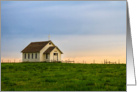 Little Country Church at Sunset - Sympathy Card