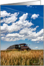 Old Truck on the Prairie - Blank Note Card