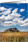 Old Truck on the Prairie - Birthday Card