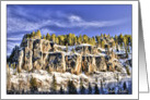 Spearfish Canyon, SD in Winter - All occasion note card