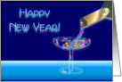 Happy New Year - Glass Full of Stars card