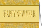 Happy New Year - Black and Gold Elegance card