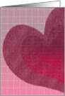 Valentine's Day - Heart Painted on Tile card
