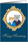 Wedding Anniversary - A Very Nice Kitty Couple card