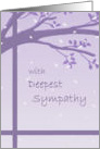 Sympathy - Tree in Silhouette with Petals card
