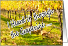 Heard It Through the Grapevine Vineyard Wine Barrel Pregnant card