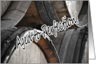 Aged to Perfection Wine Barrels Vintage Cellar Happy 50th Birthday Fiftieth card