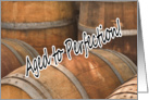Aged to Perfection Wine Barrels Vintage Cellar Happy Birthday card