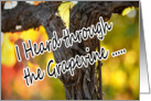 Heard It Through the Grapevine Vineyard Happy Valentine's Husband card