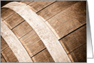 Wine Tasting Invitation with Aged Oak Wine Barrels card