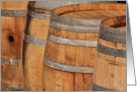 Wine Tasting Invitation with Aged Oak Wine Barrel card