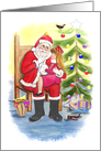 Christmas with Santa Claus card