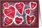 Valentine's Day with hearts card