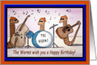 The Worms Wish you a Happy Birthday! card