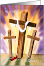 Easter Greetings with Cross card