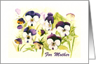 For Mother with Watercolor Pansies card