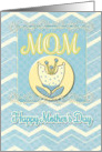 Happy Mother's Day Mom Cheerful Flowers and Chevrons card